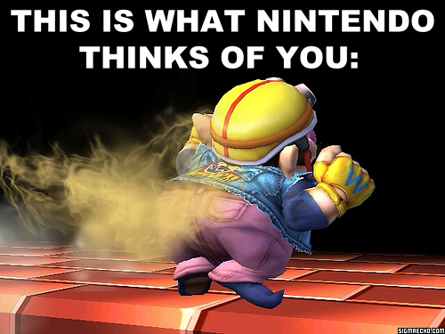 Actually, Nintendo doesn't even think that highly of you